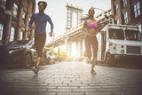 Couple running in New york - 221409822