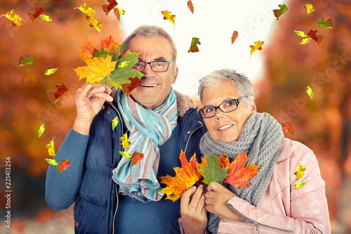 lustiger Herbstspaziergang