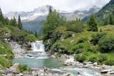 paesaggio fiumr montagna natura acqua riva parco alberi verde prato erba - 221414010