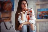 Drawing pictures creative portrait artist process - 221414277