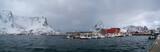 Panorama of the Norwegian village - 221420860