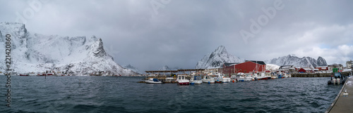 Panorama of the Norwegian village - 221420860