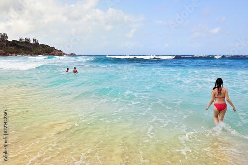 Seychelles islands, La Digue, Anse Cocos beach