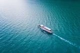 Aerial drone view on touristic boat - 221425014