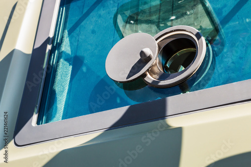 armored window and hole for firing from armored car - 221461624