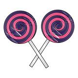 crossed spiral lollipops sweet candy - 221478279