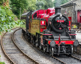 Old Red Steam Train - 221486403