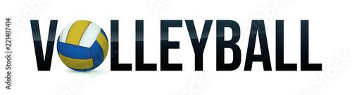 Volleyball Concept Word Art Illustration
