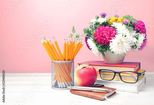 Teachers day,empty copy space background.