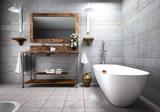 Helles Luxus-Bad mit Schnecke - 221489814