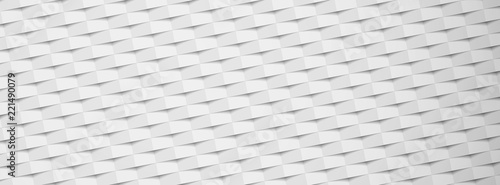 White paper textured banner with geometric pattern. - 221490079