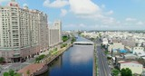 aerial shot of tainan Canal - 221508652