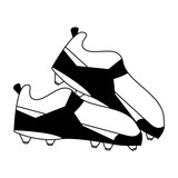 Football boots isolated in black and white - 221510266