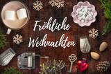 weihnachtlich Dekoration und Nachricht