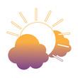sun and clouds design