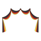 Germany curtains isolated - 221527498