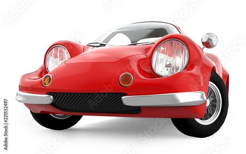 retro sport car cartoon 3d - 221532497