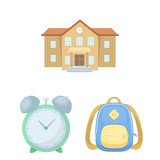 School and education cartoon icons in set collection for design.College, equipment and accessories vector symbol stock web illustration. - 221533857