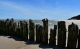 Magnificent breakwater on the beach of Debki - 221537832