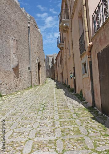 Fototapeta Sicile, village perché de Erice