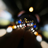 Lights tunnel abstract - 221548626