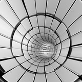 Silver abstract tunnel shapes futuristic - 221552431