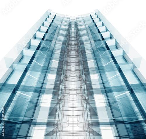 Architecture. Building concept. 3d rendering - 221557421