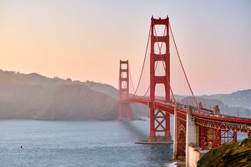 Golden Gate Bridge at sunset, San Francisco, California © haveseen