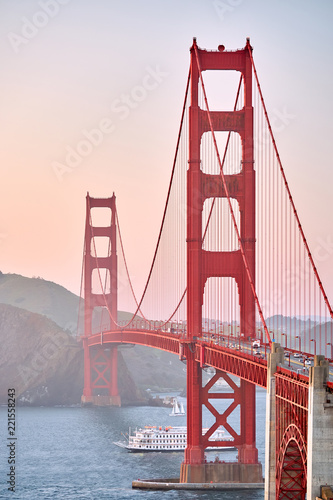 Golden Gate Bridge at sunset, San Francisco, California - 221558243