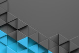 Abstract grey blue triangle pattern background - 221558846