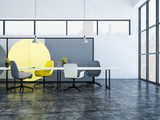 Geometric pattern boardroom interior - 221559462