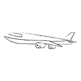 airplane flying isolated icon - 221560457
