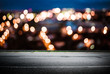 Night city lights bokeh