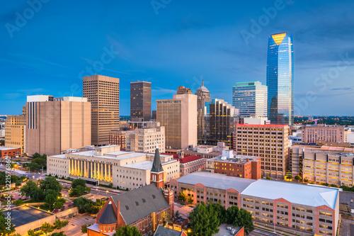 Leinwanddruck Bild Oklahoma City, Oklahoma, USA Skyline