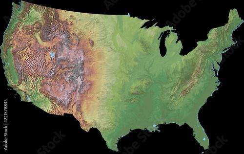 3d Elevation Map Of Usa.Elevation Map Of Usa 3d Rendering Buy Photos Ap Images