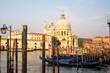 Venetian Church at Sunrise with Gondola