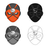 Vector design of hero and mask icon. Collection of hero and superhero stock vector illustration. - 221602273