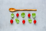 Tomatoes and basil - 221608083