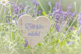 Zeit für mich, Dekoration mit Lavendel - 221608475