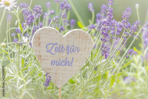 Leinwanddruck Bild Zeit für mich, Dekoration mit Lavendel
