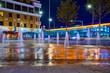 Street, decorative fountain.