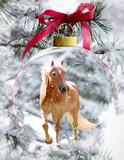 Palomino Mare In Glass Ornament - 221609478