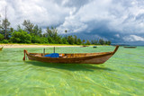 Traditional boat with Clean sea wonderfull Indonesia