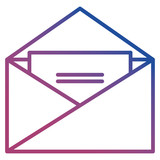 envelope mail isolated icon - 221616071