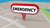 Emergency Crisis Critical Problem Map Pin 3d Animation - 221626681