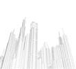 city buildigs sketch 3d illustration