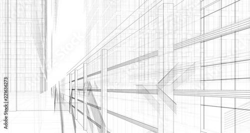 koncepcja architektury 3d ilustracji