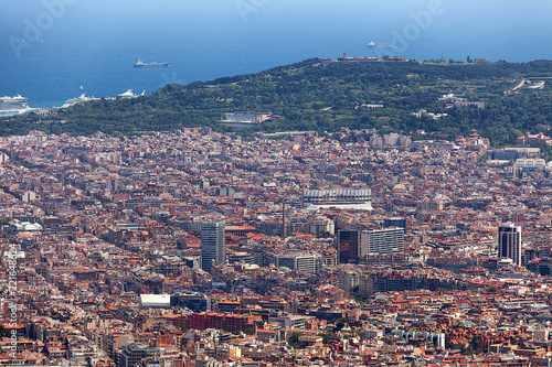 Panoramic view of Barcelona Spain - 221648624