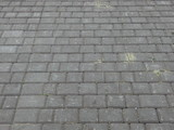 Surface of gray paving slabs - 221651669