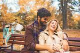 Couple enjoying fall - 221652031